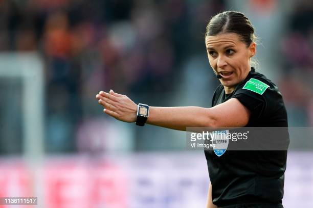 Referee Katalin Kulscar during the women's international friendly match between The Netherlands and Chili at AFAS stadium on April 09 2019 in Arnhem...
