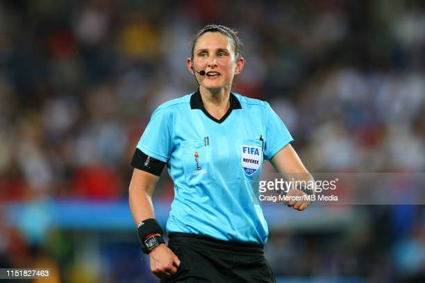 Referee Kate Jacewicz during the 2019 FIFA Women's World Cup France Round Of 16 match between Sweden and Canada at Parc des Princes on June 24, 2019...