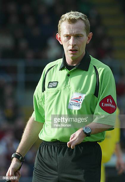 Referee Keith Hill in action during the Coca Cola League Two match between Northampton Town and Peterborough United at Sixfields Stadium on December...