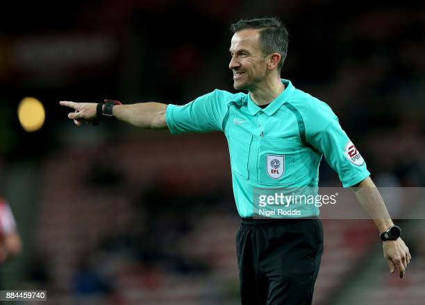Referee Keith Stroud during the Sky Bet Championship match between Sunderland and Reading at Stadium of Light on December 2 2017 in Sunderland England