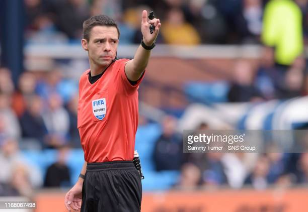 Referee Kevin Clancy during the Ladbrokes Premiership match between Kilmarnock and Hibernian at Rugby Park on September 14 in Kilmarnock Scotland