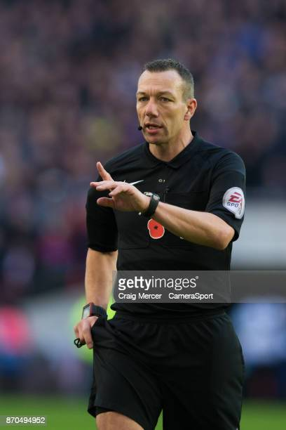 Referee Kevin Friend during the Premier League match between Tottenham Hotspur and Crystal Palace at Wembley Stadium on November 5 2017 in London...