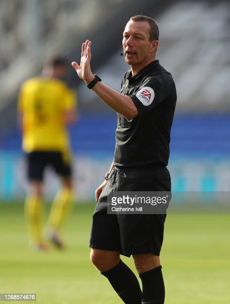 Referee Kevin Friend during the Pre-Season Friendly match between Crystal Palace and Oxford United at Selhurst Park on August 25, 2020 in London,...