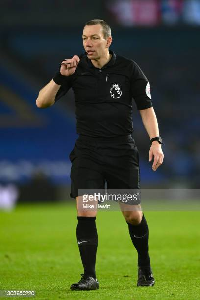 Referee Kevin Friend in action during the Premier League match between Brighton & Hove Albion and Crystal Palace at American Express Community...