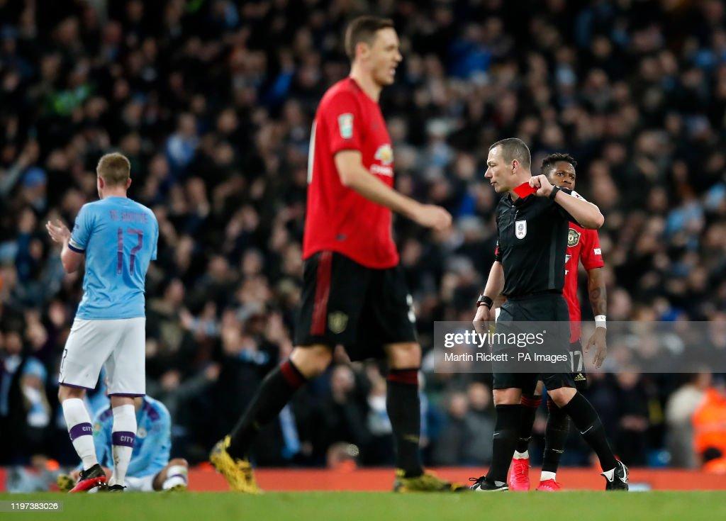 Manchester City v Manchester United - Carabao Cup - Semi Final - Second Leg - Etihad Stadium : News Photo