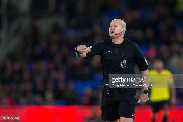 Referee Lee Mason during the Premier League match between Crystal Palace and Watford at Selhurst Park on December 12 2017 in London England