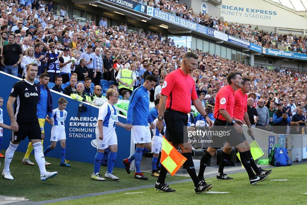 Brighton & Hove Albion v Fulham FC - Premier League : News Photo