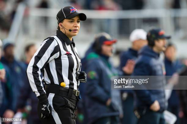 Referee Maia Chaka in action during the first half of the XFL game between the DC Defenders and the Seattle Dragons at Audi Field on February 8 2020...