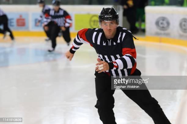 Referee Manuel Nikolic during the Austria v Denmark - Ice Hockey International Friendly at Erste Bank Arena on May 5, 2019 in Vienna, Austria.