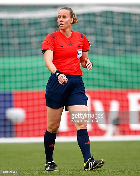 Referee Margaret Domka of the United States in action during the FIFA U20 Women's World Cup Canada 2014 Group D match between Paraguay and France at...