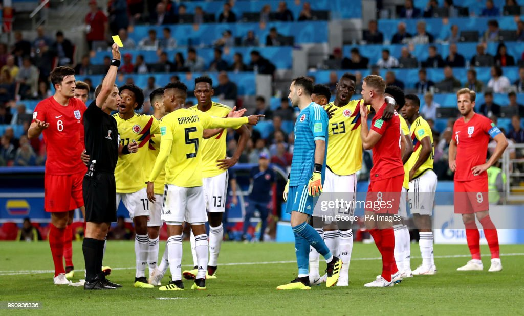Colombia v England - FIFA World Cup 2018 - Round of 16 - Spartak Stadium : News Photo