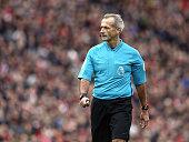 liverpool england referee martin atkinson during
