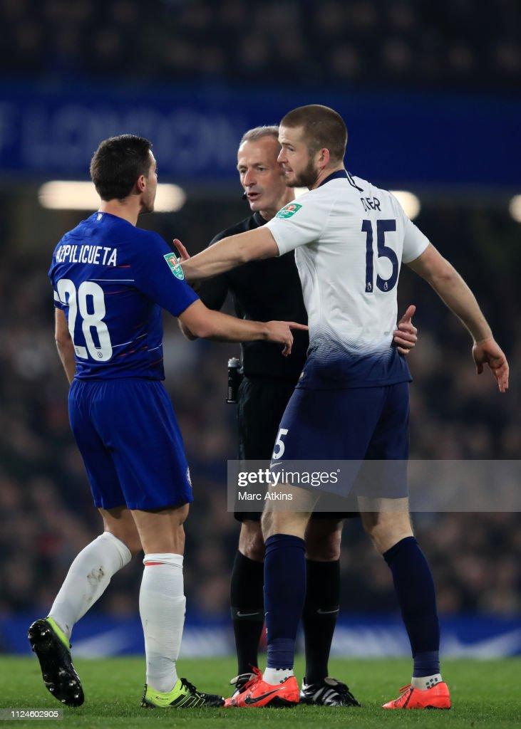 Image result for Chelsea vs Tottenham martin atkinson