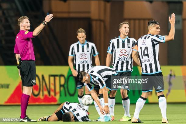 referee Martin van den Kerkhof Brandley Kuwas of Heracles Almelo Bart van Hintum of Heracles Almelo Brahim Darri of Heracles Almelo Peter van Ooijen...