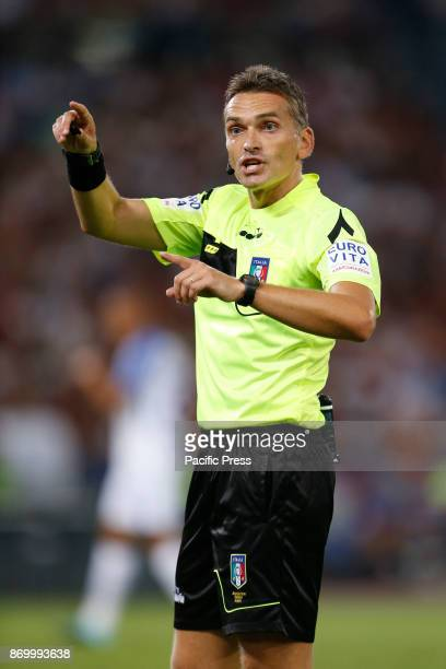 Referee Massimiliano Irrati during the Italian Serie A soccer match in Rome Inter defeating Roma 31