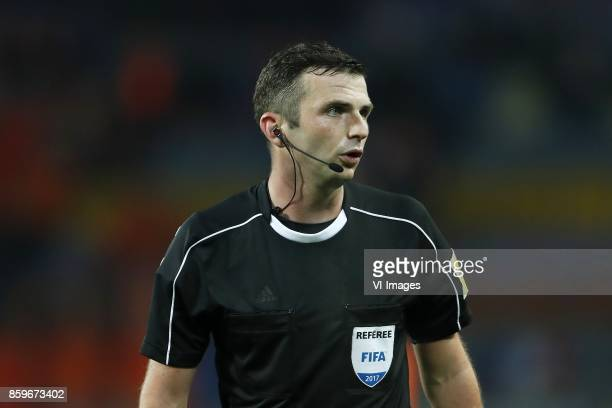 referee Michael Oliver during the FIFA World Cup 2018 qualifying match between Belarus and Netherlands on October 07 2017 at Borisov Arena in Borisov...