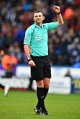 huddersfield england 11referee michael oliver during