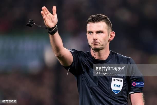 referee Michael Oliver during the UEFA Champions League group F match between Feyenoord Rotterdam and SSC Napoli at the Kuip on December 06 2017 in...