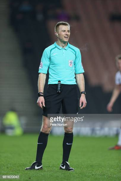 Referee Michael Salisbury in action during the Sky Bet League One match between Milton Keynes Dons and Rotherham United at StadiumMK on March 13 2018...