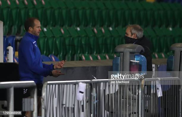Referee, Mike Adamson is pictured after abandoning the Guinness Pro14 match between Glasgow Warriors and Edinburgh due to a frozen pitch at Scotstoun...