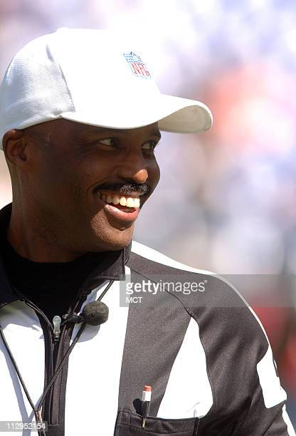 Referee Mike Carey is shown before a game between the San Diego Chargers and the Baltimore Ravens on Sunday, October 1 in Baltimore, Maryland.
