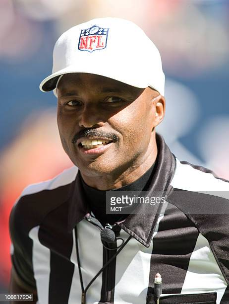 Referee Mike Carey is shown on the field before a game between the San Diego Chargers and the Houston Texans on Sunday, November 2010, at Reliant...