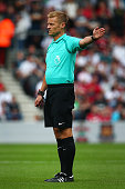 southampton england referee mike jones during