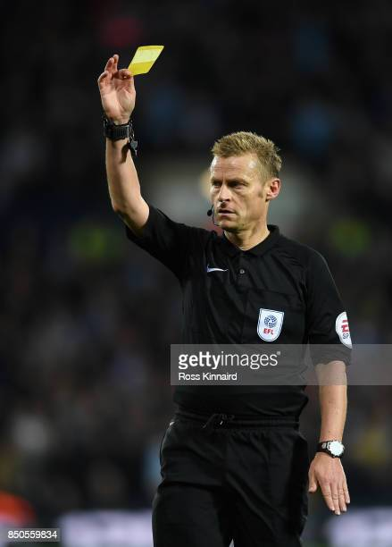 Referee Mike Jones in action during the Carabao Cup third round match between West Bromwich Albion and Manchester City at The Hawthorns on September...