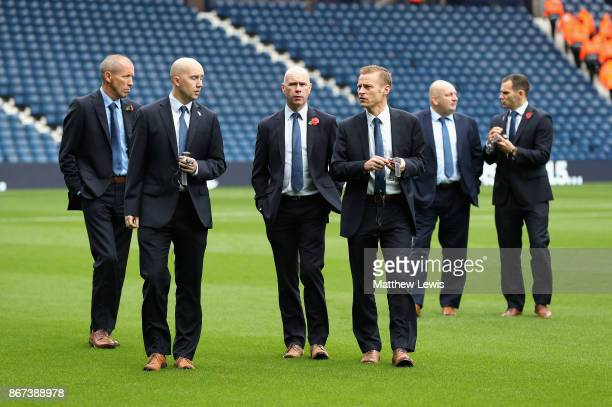 Referee Mike Jones takes a look around the pitch prior to the Premier League match between West Bromwich Albion and Manchester City at The Hawthorns...