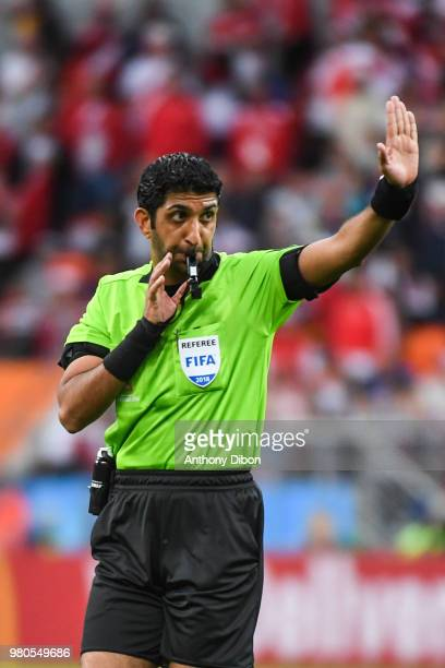 Referee Mohammed Abdulla Hassan During The FIFA World Cup Match Group C Between France And