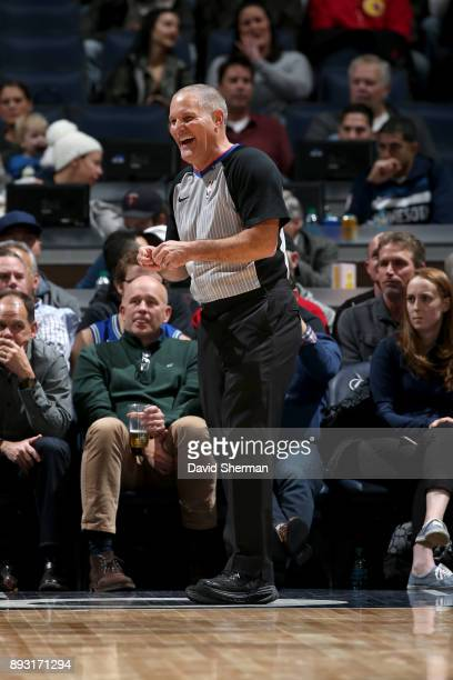 Referee Monty Mccutchen looks on during the Minnesota Timberwolves v Sacramento Kings game on December 14 2017 at Target Center in Minneapolis...