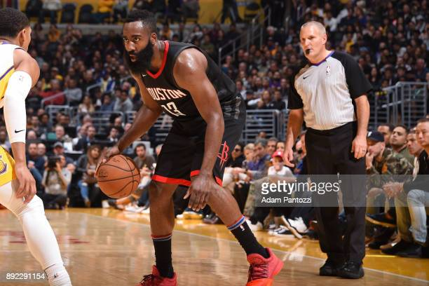 Referee Monty McCutchen officiates the Houston Rockets game against the Los Angeles Lakers on December 3 2017 at STAPLES Center in Los Angeles...
