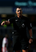 liverpool england referee neil swarbrick during