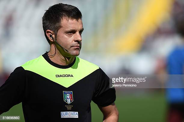 Referee Nicola Rizzoli looks on during the Serie A match between Torino FC and Juventus FC at Stadio Olimpico di Torino on March 20 2016 in Turin...