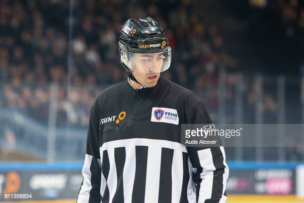 Referee Nicolas Costantineau during the National Cup Final match between Lyon and Gap at AccorHotels Arena on January 28 2018 in Paris France