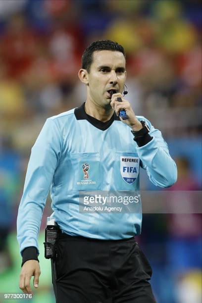 Referee of the match Cesar Ramos is seen during 2018 FIFA World Cup Russia Group E match between Brazil and Switzerland at Rostov Arena in...