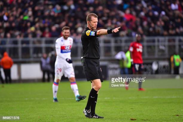 Referee Olivier Thual during the Ligue 1 match between Amiens SC and Olympique Lyonnais at Stade de la Licorne on December 10 2017 in Amiens France