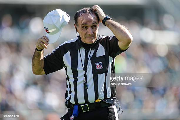 NFL referee Pete Morelli looks on during the NFL game between the Tennessee Titans and the Jacksonville Jaguars on December 24 at EverBank Field in...