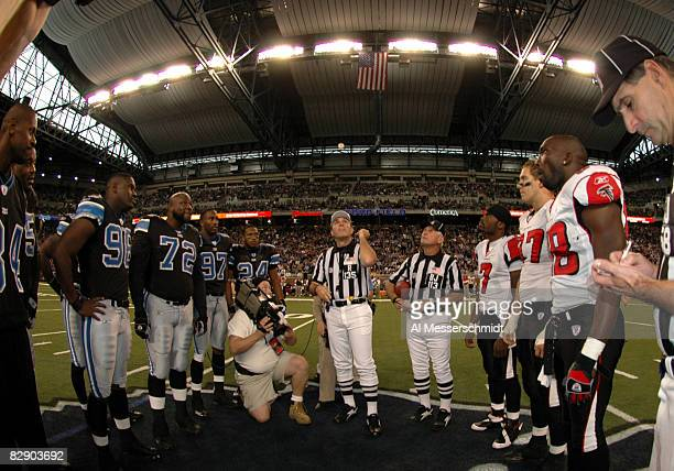 NFL referee Pete Morelli tosses the coin before a Thanksgiving Day game November 24 at Ford Field Detroit The Atlanta Falcons defeated the Detroit...