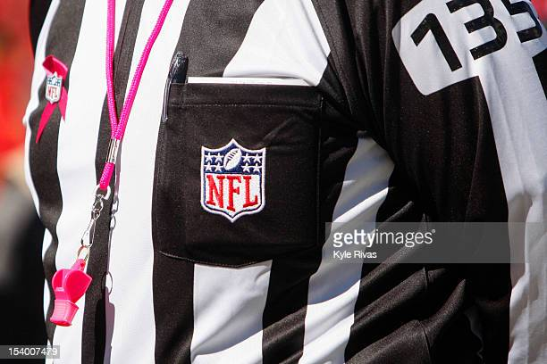 Referee Pete Morelli walks back into the tunnel before the Kansas City Chiefs take on the Baltimore Ravens on October 07 2012 at Arrowhead Stadium in...