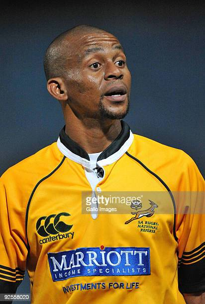 Referee Pro Legoete during the Absa Currie Cup Promotion / Relegation match between Pumas and Boland from Puma Stadium on October 30 2009 in Witbank...