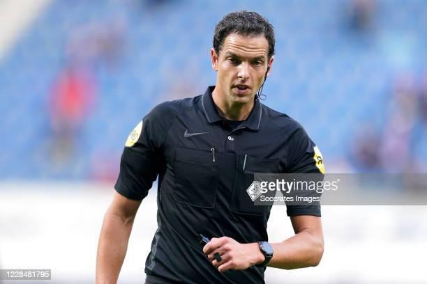 Referee Richard Martens during the Dutch Eredivisie match between SC Heerenveen v Willem II at the Abe Lenstra Stadium on September 12, 2020 in...