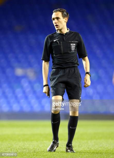 Referee Robert Clausen during The FA Women's Premier League Southern Division match between Tottenham Hotspur Ladies and West Ham United Ladies at...