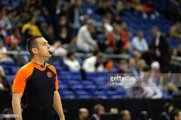 Referee Robert Lottermoser in action during the Turkish Airlines EuroLeague Final Four game 3rd and 4th place between CSKA Moscow v FC Barcelona...
