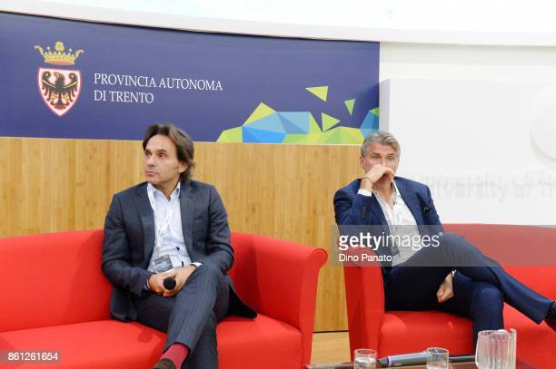 Referee Roberto Rosetti Project leader Video assistant Referee VAR and Valter di Salvo responsible for research performance club italia during his...