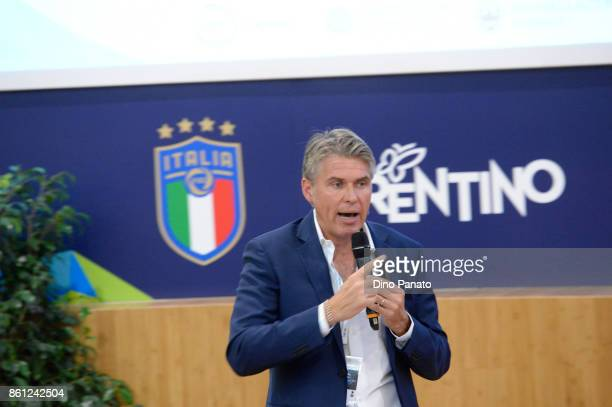 Referee Roberto Rosetti Ptoject leader Video assistant Referee VAR during his speech Hackaton Event In Trento at the University of letters on October...