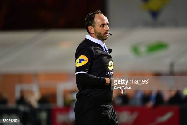 Referee Romain Poite during the French Top 14 match between Racing 92 and Pau at Stade Yves Du Manoir on November 4 2017 in Colombes France