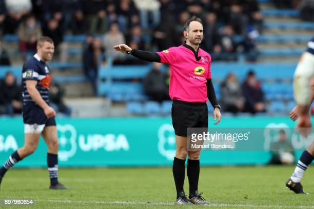 Referee Romain Poite during the Top 14 match between Agen and Brive on December 23 2017 in Agen France