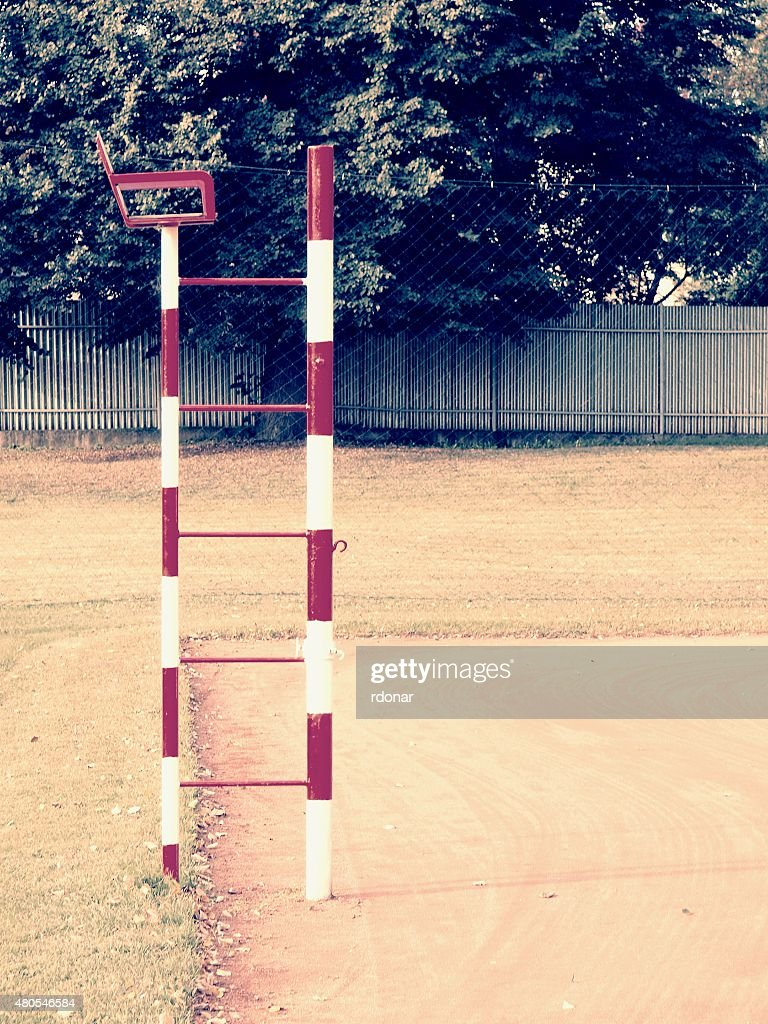 Referee seat in the volleyball or tennis outdoor court : Stock Photo