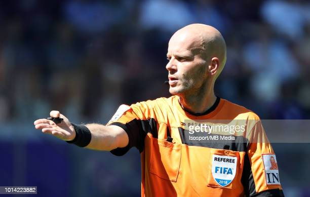 Referee Sebastien Delferiere Pictured During The Jupiler Pro League Match Between Rsc Anderlecht And Kv Oostende
